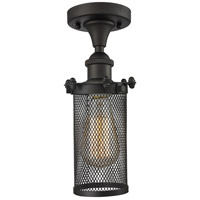 Innovations Lighting 516-1C-OB-220 Quincy Hall 1 Light 6 inch Oiled Rubbed Bronze Flush Mount Ceiling Light