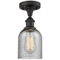 Innovations Lighting 516-1C-OB-G257-LED Caledonia LED 5 inch Oil Rubbed Bronze Semi-Flush Mount Ceiling Light