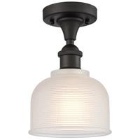 Innovations Lighting 516-1C-OB-G411-LED Dayton LED 6 inch Oil Rubbed Bronze Semi-Flush Mount Ceiling Light Ballston