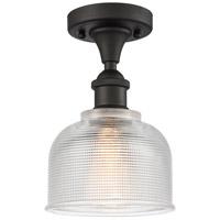 Innovations Lighting 516-1C-OB-G412-LED Dayton LED 6 inch Oil Rubbed Bronze Semi-Flush Mount Ceiling Light Ballston