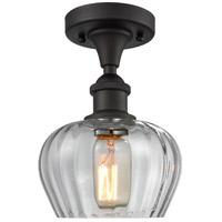 Innovations Lighting 516-1C-OB-G92-LED Fenton LED 7 inch Oil Rubbed Bronze Semi-Flush Mount Ceiling Light