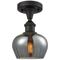 Innovations Lighting 516-1C-OB-G93-LED Fenton LED 7 inch Oil Rubbed Bronze Semi-Flush Mount Ceiling Light