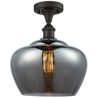 Large Fenton LED 11 inch Oil Rubbed Bronze Semi-Flush Mount Ceiling Light