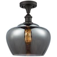Innovations Lighting 516-1C-OB-G93-L-LED Large Fenton LED 11 inch Oil Rubbed Bronze Semi-Flush Mount Ceiling Light
