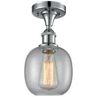 Innovations Lighting 516-1C-PC-G104-LED Belfast LED 6 inch Polished Chrome Semi-Flush Mount Ceiling Light, Ballston
