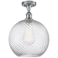 Innovations Lighting 516-1C-PC-G1214-12 X-Large Twisted Swirl 1 Light 12 inch Polished Chrome Semi-Flush Mount Ceiling Light Ballston
