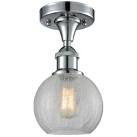 Athens 1 Light 8 inch Polished Chrome Semi Flush Mount Ceiling Light