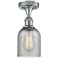 Innovations Lighting 516-1C-PC-G257-LED Caledonia LED 5 inch Polished Chrome Semi-Flush Mount Ceiling Light