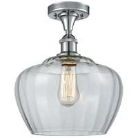 Innovations Lighting 516-1C-PC-G92-L-LED Large Fenton LED 11 inch Polished Chrome Semi-Flush Mount Ceiling Light
