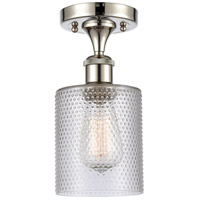 Innovations Lighting 516-1C-PN-G112 Cobbleskill 1 Light 5 inch Polished Nickel Semi-Flush Mount Ceiling Light Ballston