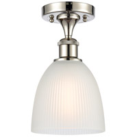 Innovations Lighting 516-1C-PN-G381 Castile 1 Light 6 inch Polished Nickel Semi-Flush Mount Ceiling Light Ballston