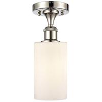 Innovations Lighting 516-1C-PN-G801 Clymer 1 Light 4 inch Polished Nickel Semi-Flush Mount Ceiling Light, Ballston