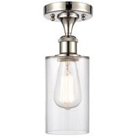 Innovations Lighting 516-1C-PN-G802-LED Clymer LED 4 inch Polished Nickel Semi-Flush Mount Ceiling Light Ballston