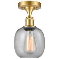 Innovations Lighting 516-1C-SG-G104-LED Belfast LED 6 inch Satin Gold Semi-Flush Mount Ceiling Light, Ballston