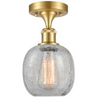 Innovations Lighting 516-1C-SG-G105 Belfast 1 Light 6 inch Satin Gold Semi-Flush Mount Ceiling Light, Ballston