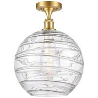 Innovations Lighting 516-1C-SG-G1213-12 X-Large Deco Swirl 1 Light 12 inch Satin Gold Semi-Flush Mount Ceiling Light
