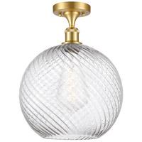 Innovations Lighting 516-1C-SG-G1214-12-LED X-Large Twisted Swirl LED 12 inch Satin Gold Semi-Flush Mount Ceiling Light