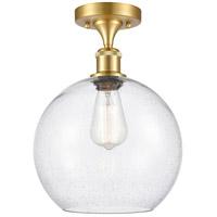 Innovations Lighting 516-1C-SG-G124-10 Large Athens 1 Light 10 inch Satin Gold Semi-Flush Mount Ceiling Light Ballston