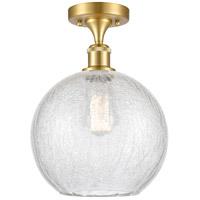 Innovations Lighting 516-1C-SG-G125-10 Large Athens 1 Light 10 inch Satin Gold Semi-Flush Mount Ceiling Light Ballston