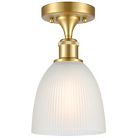 Innovations Lighting 516-1C-SG-G381-LED Castile LED 6 inch Satin Gold Semi-Flush Mount Ceiling Light, Ballston