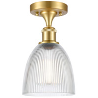 Innovations Lighting 516-1C-SG-G382 Castile 1 Light 6 inch Satin Gold Semi-Flush Mount Ceiling Light, Ballston