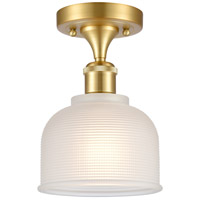 Satin Gold Dayton Semi-Flush Mounts