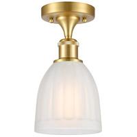 Innovations Lighting 516-1C-SG-G441 Brookfield 1 Light 6 inch Satin Gold Semi-Flush Mount Ceiling Light, Ballston