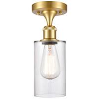 Innovations Lighting 516-1C-SG-G802 Clymer 1 Light 4 inch Satin Gold Semi-Flush Mount Ceiling Light Ballston