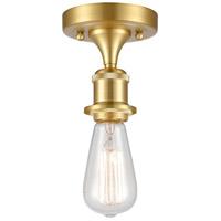 Innovations Lighting 516-1C-SG-LED Bare Bulb LED 5 inch Satin Gold Semi-Flush Mount Ceiling Light, Ballston