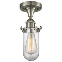 Innovations Lighting 516-1C-SN-232CL Quincy Hall 1 Light 6 inch Brushed Satin Nickel Flush Mount Ceiling Light