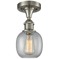 Innovations Lighting 516-1C-SN-G104-LED Belfast LED 6 inch Brushed Satin Nickel Flush Mount Ceiling Light Ballston