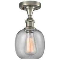 Innovations Lighting 516-1C-SN-G104-LED Belfast LED 6 inch Satin Nickel Flush Mount Ceiling Light, Ballston