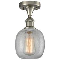 Innovations Lighting 516-1C-SN-G105-LED Belfast LED 6 inch Satin Nickel Semi-Flush Mount Ceiling Light, Ballston