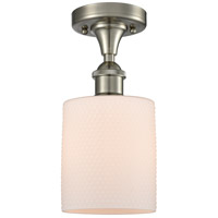 Innovations Lighting 516-1C-SN-G111 Cobbleskill 1 Light 5 inch Satin Nickel Semi-Flush Mount Ceiling Light, Ballston