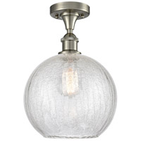 Innovations Lighting 516-1C-SN-G125-10 Large Athens 1 Light 10 inch Satin Nickel Semi-Flush Mount Ceiling Light Ballston