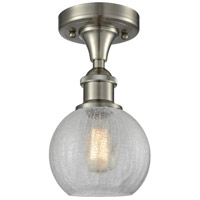 Athens 1 Light 8 inch Brushed Satin Nickel Semi Flush Mount Ceiling Light
