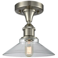 Innovations Lighting 516-1C-SN-G132 Disc 1 Light 10 inch Brushed Satin Nickel Semi-Flush Mount Ceiling Light