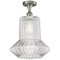 Innovations Lighting 516-1C-SN-G212-LED Springwater LED 12 inch Satin Nickel Flush Mount Ceiling Light Ballston