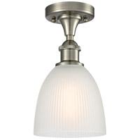 Innovations Lighting 516-1C-SN-G381-LED Castile LED 6 inch Satin Nickel Flush Mount Ceiling Light Ballston