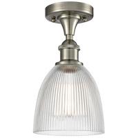 Innovations Lighting 516-1C-SN-G382-LED Castile LED 6 inch Satin Nickel Flush Mount Ceiling Light Ballston