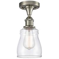 Innovations Lighting 516-1C-SN-G392-LED Ellery LED 5 inch Satin Nickel Semi-Flush Mount Ceiling Light, Ballston
