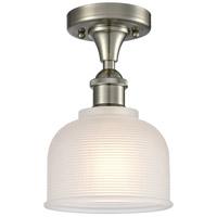 Innovations Lighting 516-1C-SN-G411-LED Dayton LED 6 inch Satin Nickel Flush Mount Ceiling Light Ballston