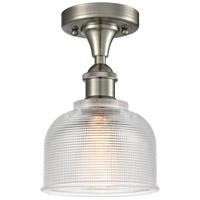 Innovations Lighting 516-1C-SN-G412-LED Dayton LED 6 inch Satin Nickel Flush Mount Ceiling Light Ballston