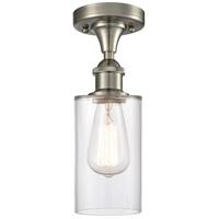 Innovations Lighting 516-1C-SN-G802-LED Clymer LED 4 inch Satin Nickel Semi-Flush Mount Ceiling Light Ballston