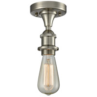 Satin Nickel Bare Bulb Semi-Flush Mounts