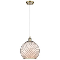 Innovations Lighting 516-1P-AB-G121-10CBK Large Farmhouse Chicken Wire 1 Light 10 inch Antique Brass Mini Pendant Ceiling Light Ballston
