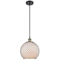 Innovations Lighting 516-1P-BAB-G121-10CBK Large Farmhouse Chicken Wire 1 Light 10 inch Black Antique Brass Mini Pendant Ceiling Light, Ballston