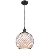 Innovations Lighting 516-1P-BK-G121-10CBK-LED Large Farmhouse Chicken Wire LED 10 inch Matte Black Mini Pendant Ceiling Light, Ballston