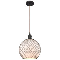 Innovations Lighting 516-1P-OB-G121-10CBK Large Farmhouse Chicken Wire 1 Light 10 inch Oil Rubbed Bronze Mini Pendant Ceiling Light, Ballston