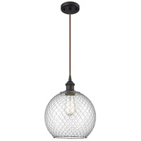 Innovations Lighting 516-1P-OB-G122-10CSN Large Farmhouse Chicken Wire 1 Light 10 inch Oil Rubbed Bronze Mini Pendant Ceiling Light Ballston